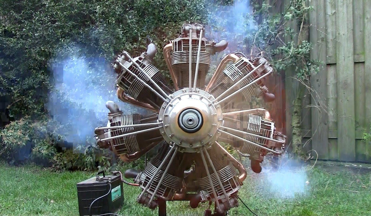 Starting Up a Homemade Radial Engine from Old VW Parts – GT