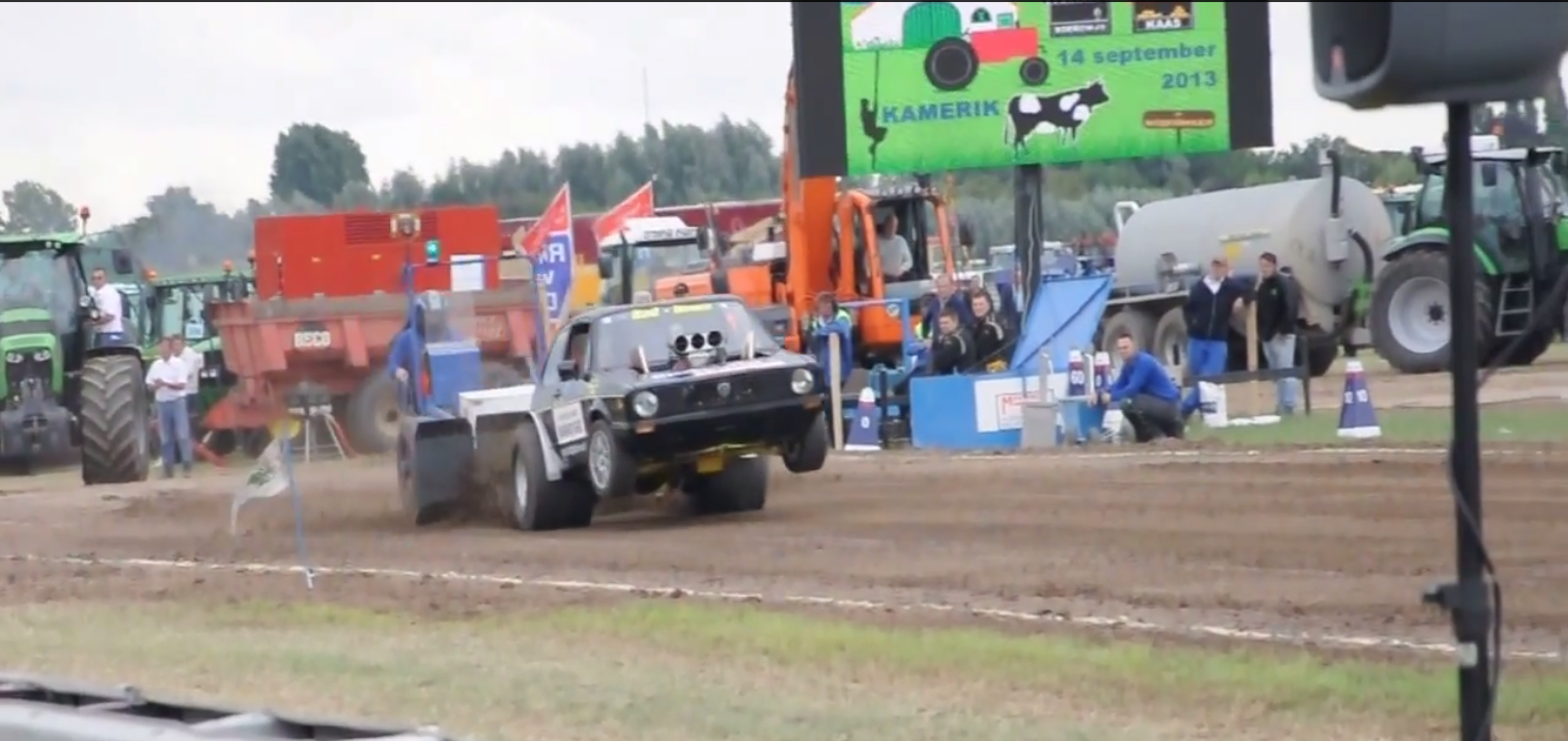 Inside Tractor Pulling : Check out this blown v golf tractor pulling rig gt speed