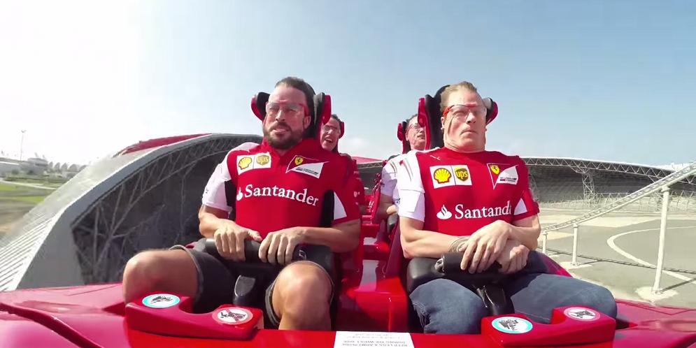 Kimi-Raikkonen-and-Fernando-Alonso-Ferrari-World-Abu-Dhabi