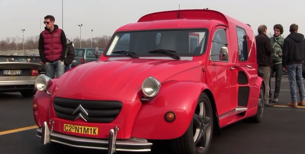 This Vintage Citron 2cv Is Powered By The Ferrari F35539s V8 Engine