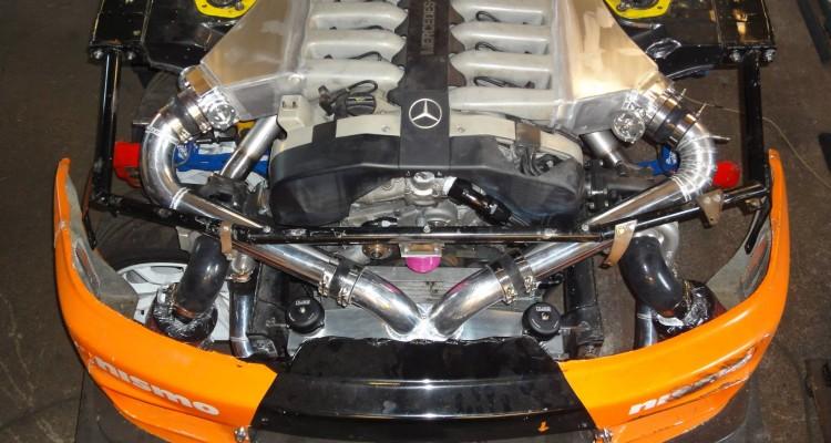 Meet The V12 Mercedes Benz Powered R33 Skyline Drift Car