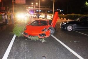 Justin Bieber crashes