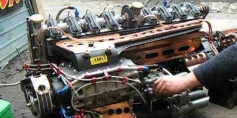 eight cylinder engine