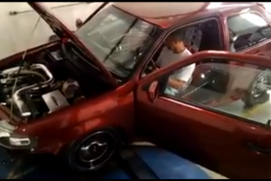 car blows up in dyno