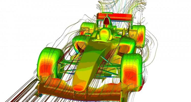 Formula 1 downforce