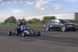 Go kart with superbike engine