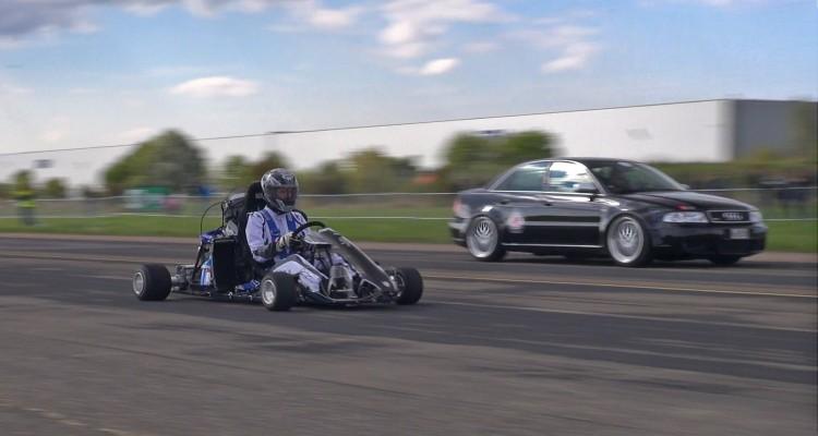 Go kart with superbike engine
