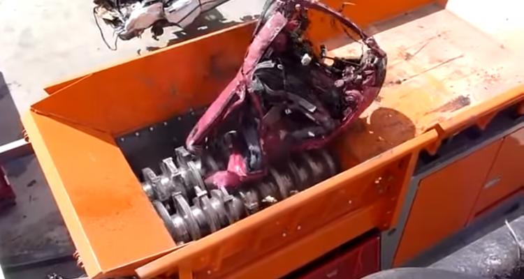 massive car shredder