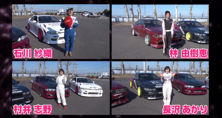 Drift King Keiichi Tsuchiya trains female drifters