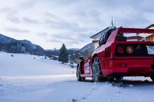 Ferrari F40 snow drifting f40