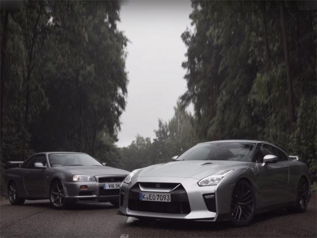 New 2017 Nissan Gtr R35 Vs Nissan Skyline Gtr R34 Gt Speed