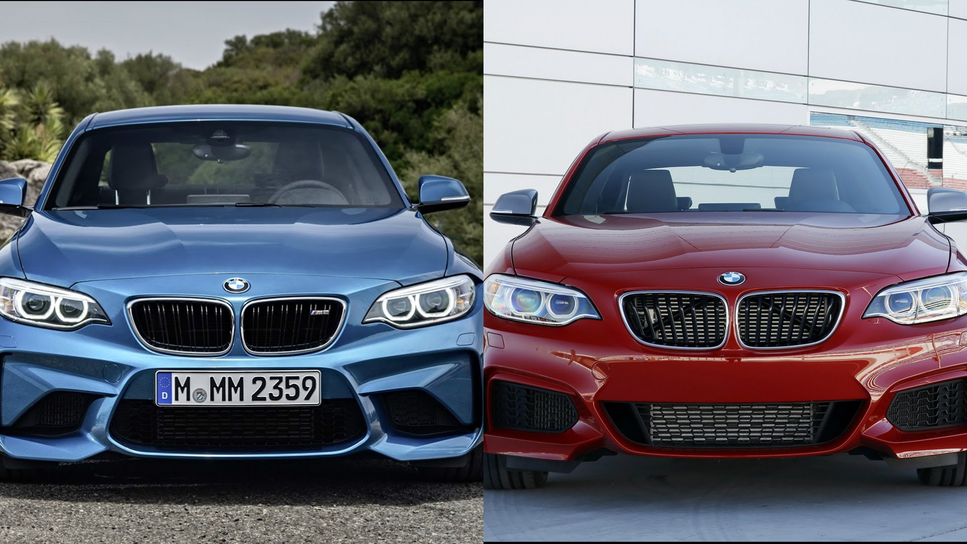 the battle between twins bmw m235i vs m2 at autobahn gt speed. Black Bedroom Furniture Sets. Home Design Ideas