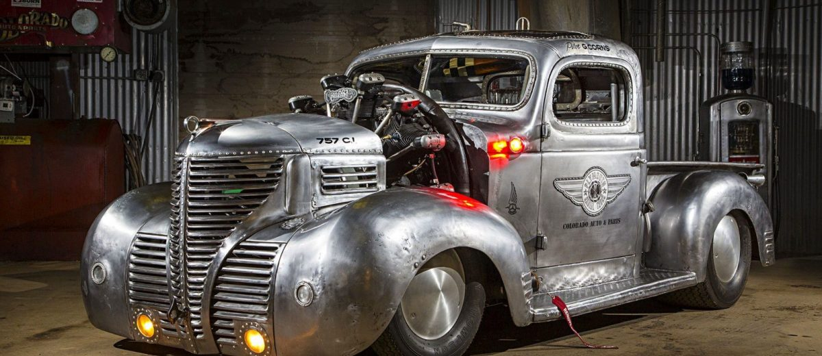 This 1939 Plymouth pickup houses a 12.4 liter Jacobs R 755 radial engine! – GT Speed