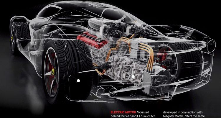 Ferrari To Go Hybrid Laferrari Rear Engine 02
