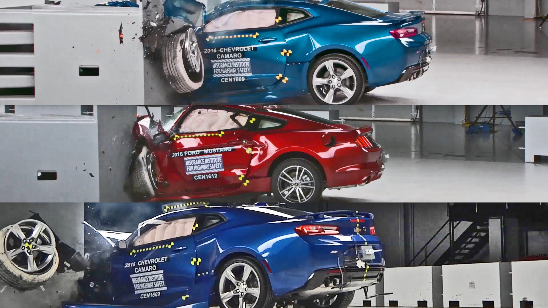 These muscle cars crash tests prove that safety is not a priority ...